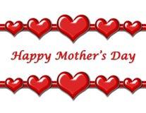 Saludo del día de madre con los corazones Foto de archivo