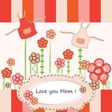 Tarjeta de felicitación del día de madres Fotografía de archivo