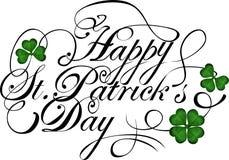 Saludo del día de Patricks del santo Imagen de archivo