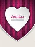 Saludo del día de San Valentín con el fondo rosado Fotografía de archivo