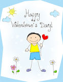 Saludo del día de tarjetas del día de San Valentín Foto de archivo libre de regalías