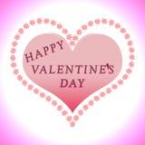 Saludo del día de tarjetas del día de San Valentín Fotos de archivo