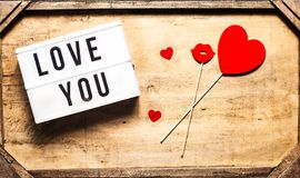 Saludo del día del St Valentine's Fotos de archivo
