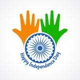 Saludo del Día de la Independencia Imagen de archivo libre de regalías