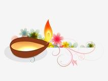 Saludo del festival de Diwali libre illustration