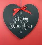 Saludo del mensaje de la Feliz Año Nuevo Fotografía de archivo