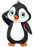 Saludo del pingüino ilustración del vector