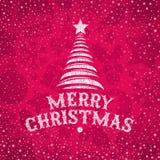 Saludo drenado mano de la Navidad Fotografía de archivo libre de regalías