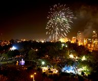 Saludo en honor del Día de la Independencia foto de archivo libre de regalías