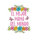 Saludo español del día de la madre libre illustration