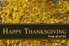 Saludo feliz de la acción de gracias Foto de archivo libre de regalías