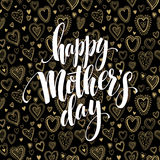 Saludo feliz de la pizarra del día de madres Diseño de la caligrafía y de letras Ilustración del vector stock de ilustración