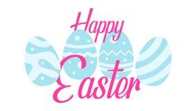 Saludo feliz de Pascua con el fondo del huevo ilustración del vector
