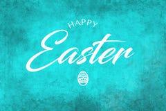 Saludo feliz de Pascua en un fondo del trullo Foto de archivo