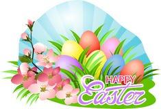Saludo feliz del día de Pascua ilustración del vector
