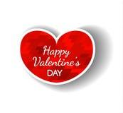 Saludo feliz del día de tarjetas del día de San Valentín Ilustración del Vector