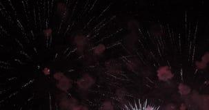 Saludo festivo en el cielo almacen de metraje de vídeo