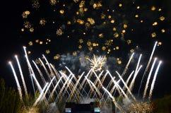 Saludo festivo en el estadio Imagen de archivo