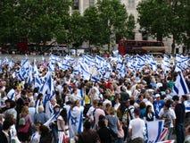 Saludo a Israel 2008 Foto de archivo libre de regalías