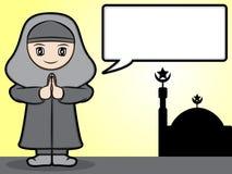 Saludo musulmán de la muchacha Foto de archivo libre de regalías