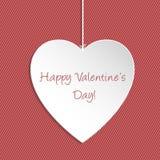 Saludo simple de Valentine Day Foto de archivo libre de regalías