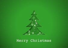 Saludo verde de la Navidad ilustración del vector