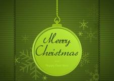 Saludo verde de Navidad stock de ilustración