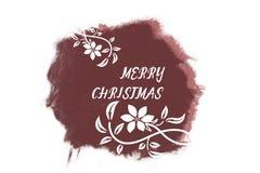 Saludos blancos cursivos del Año Nuevo en marsala brillante Foto de archivo libre de regalías