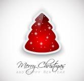 Saludos clásicos elegantes de la Navidad Imágenes de archivo libres de regalías