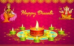 Saludos de Diwali ilustración del vector