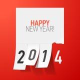 Saludos de la Feliz Año Nuevo 2014 Fotografía de archivo libre de regalías