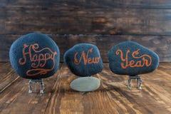 Saludos de la Feliz Año Nuevo Imágenes de archivo libres de regalías