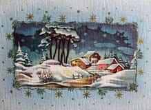 Saludos de la Feliz Navidad y de la estación Imágenes de archivo libres de regalías