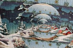 Saludos de la Feliz Navidad y de la estación Foto de archivo