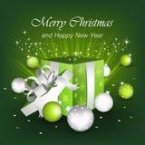Saludos de la Feliz Navidad y de la Feliz Año Nuevo stock de ilustración