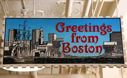 Saludos de la muestra de Boston imagen de archivo libre de regalías