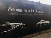 Saludos de la Navidad del Merdedes-Benz Imagen de archivo libre de regalías