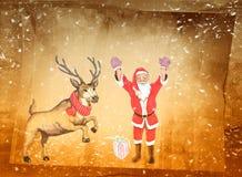 Saludos de la Navidad, fondo festivo para las imágenes Fotografía de archivo libre de regalías