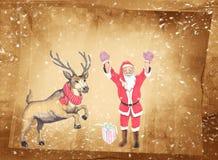 Saludos de la Navidad, fondo festivo para las imágenes Foto de archivo libre de regalías