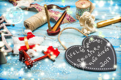 Saludos de la Navidad, lengua española Imágenes de archivo libres de regalías