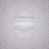 Saludos de la postal Invitación de la boda Imagen de archivo