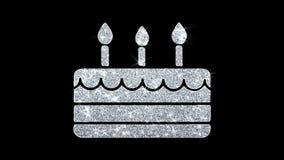 Saludos de las partículas del icono del centelleo del elemento del feliz cumpleaños, invitación, fondo de la celebración stock de ilustración