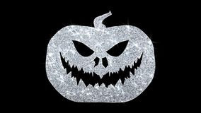 Saludos de las partículas del icono del elemento del centelleo del elemento del feliz Halloween, invitación, fondo de la celebrac stock de ilustración