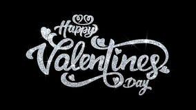 Saludos de las partículas de los deseos del texto del centelleo del día de San Valentín, invitación, fondo de la celebración stock de ilustración