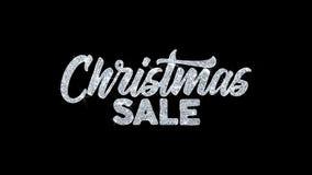 Saludos de las partículas de los deseos del texto del centelleo de la venta de la Navidad, invitación, fondo de la celebración stock de ilustración