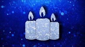 Saludos de las part?culas del icono del centelleo del elemento de la vela del ornamento de la Navidad, invitaci?n, fondo stock de ilustración