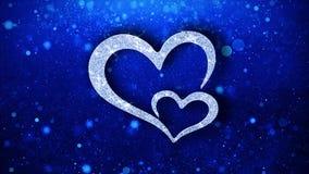 Saludos de las part?culas del icono del elemento del centelleo del coraz?n, invitaci?n, fondo de la celebraci?n libre illustration