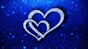 Saludos de las part?culas del icono del elemento del centelleo del coraz?n, invitaci?n, fondo de la celebraci?n stock de ilustración