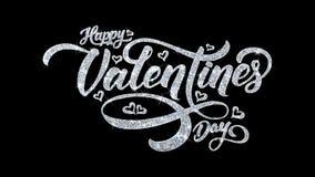 Saludos de las part?culas de los deseos del texto del centelleo del d?a de San Valent?n, invitaci?n, fondo de la celebraci?n ilustración del vector