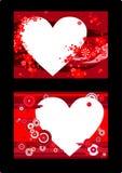 Saludos de las tarjetas del día de San Valentín Fotografía de archivo